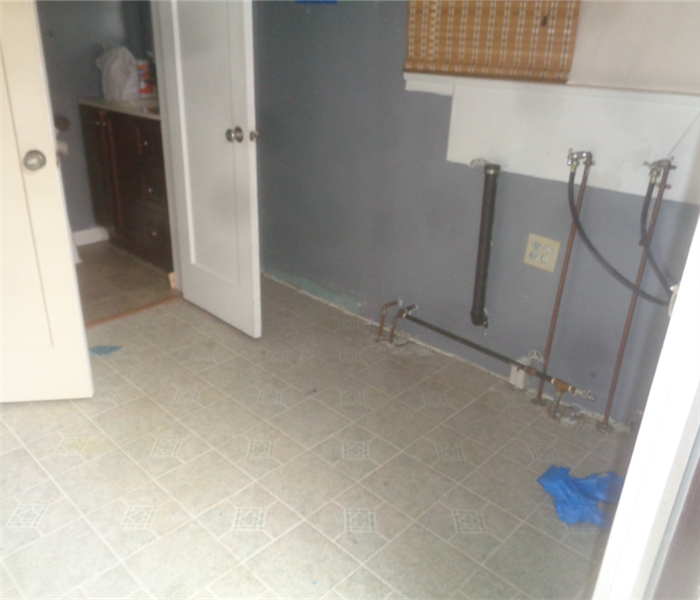 This image shows the room cleaned up and renovated