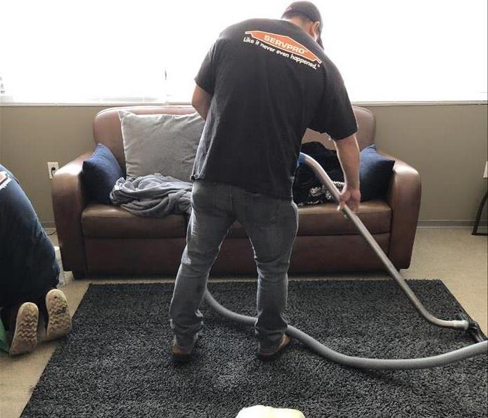 SERVPRO cleaning up the damage