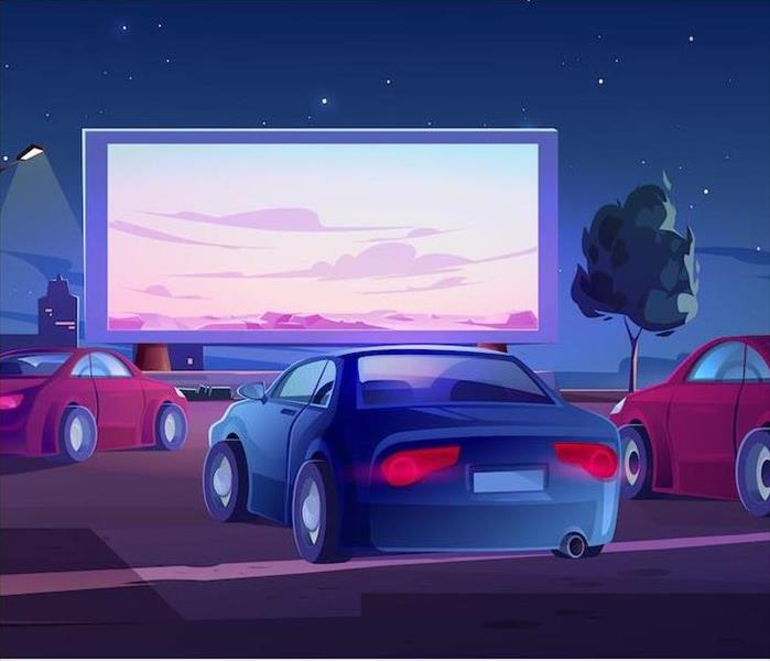 Drive in theater animation